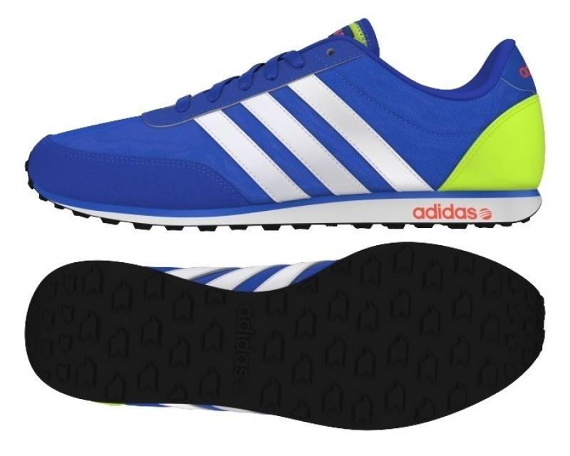 Zapatillas de retrorunning hombre Adidas V RACER Azul Lima Blanco #DEPORTESHERMIDA