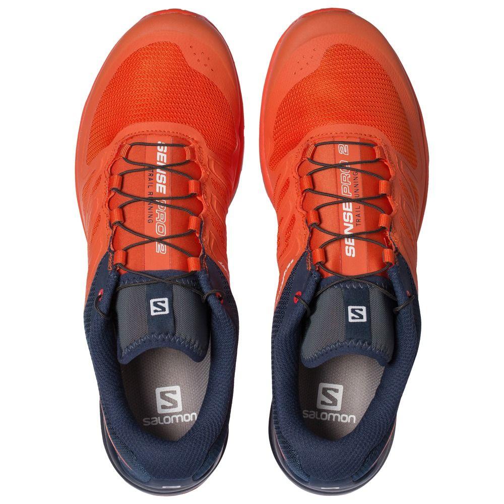 Buty Do Biegania Salomon Sense Pro 2 Meskie Pomaranczowe Ciemnoniebieski 83520lmib Running Sperry Sneaker Shoes
