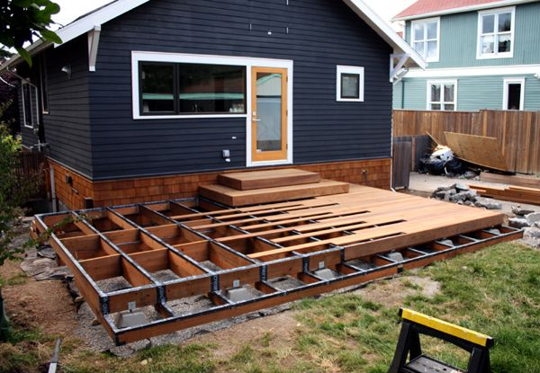 Sleek Cool Deck Ideas In And Out Pinterest Decking Backyard
