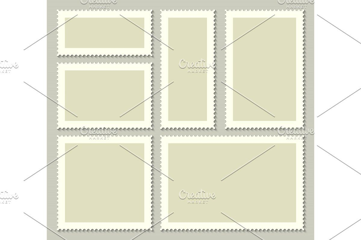 Blank Postage Stamps Post Card In