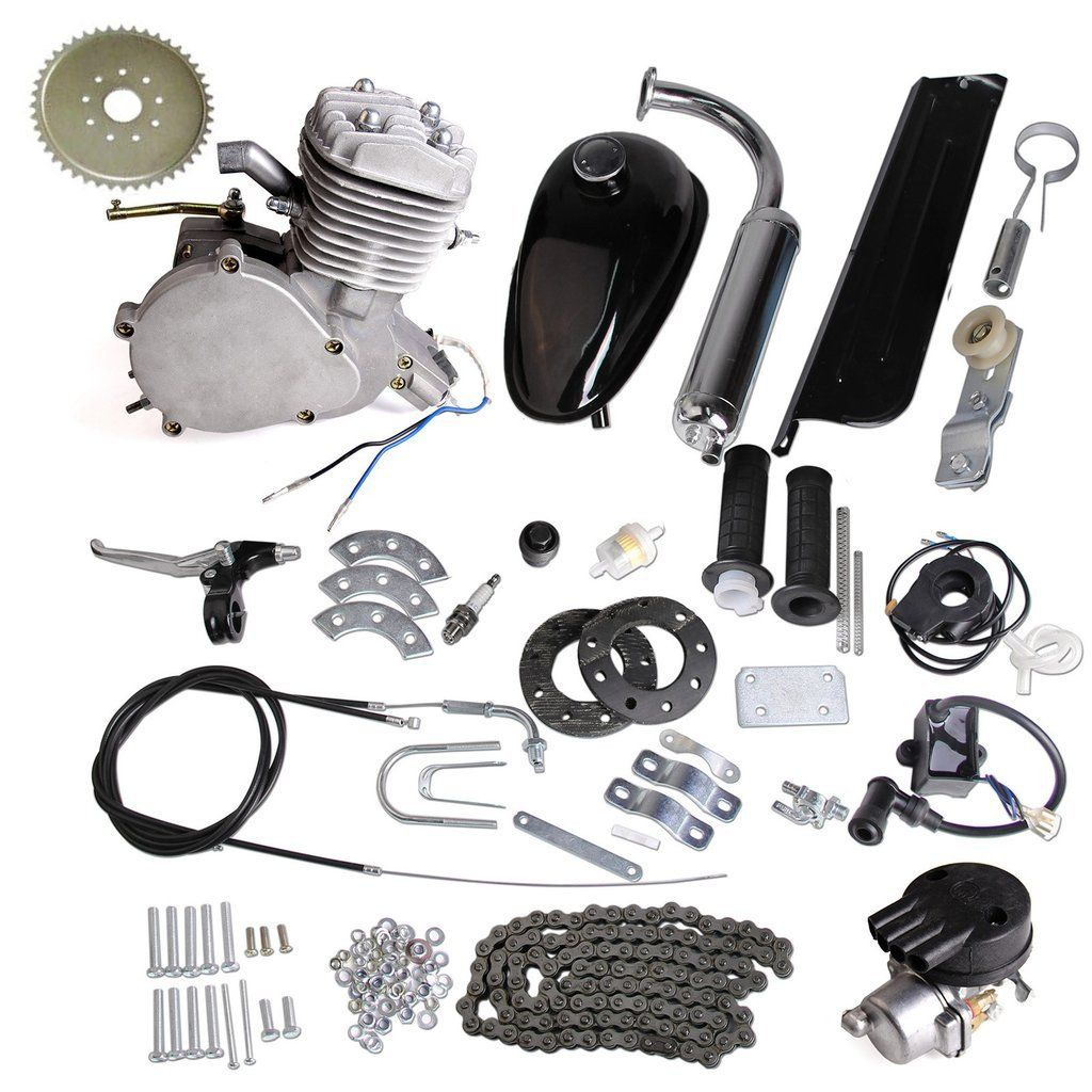 80cc Bike Motor Kit Build and Test Run Video | Work hard, Bullet and ...