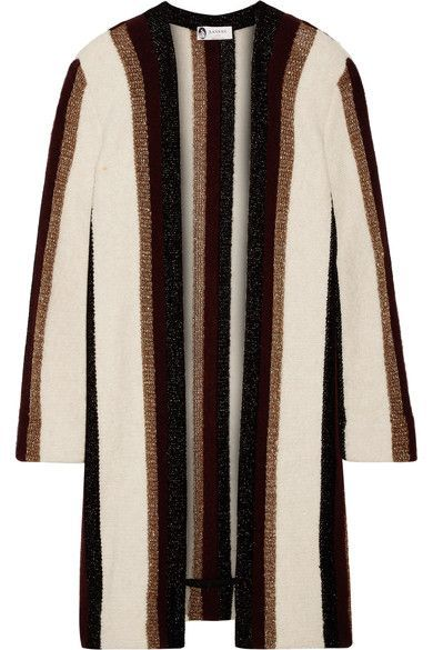 4e986d90f8 Lanvin - Striped Metallic Knitted Cardigan - White