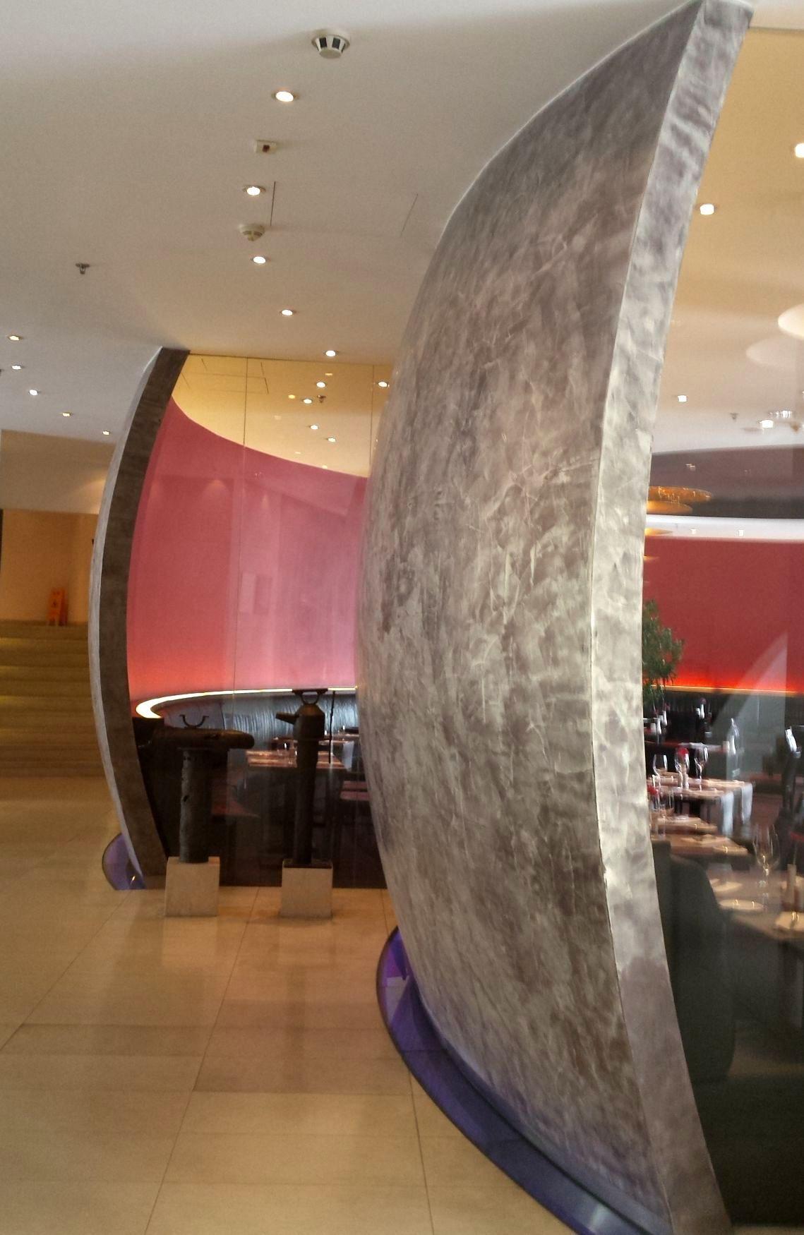 Hotelgestaltung, Wandgestaltung in Spachteltechnik http://www ...