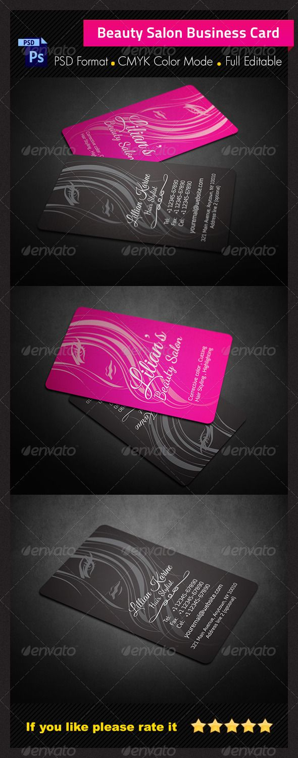 Beauty Salon Business Card - Business Cards Print Templates | Our ...