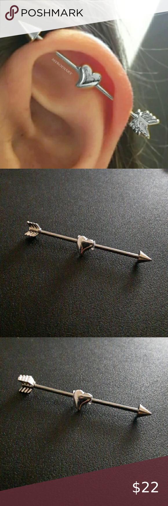 Nose piercings #industrial #barbell #piercing industrial barbell piercing, bar ...