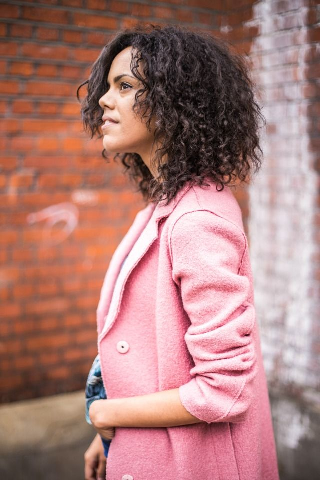 London Blogger Jazmine from @jazzabellesdiary wears the pink Sally coat in her latest style blog post. Made from luxurious wool with raw edges and available in a selection of must-have colours, this is THE most in-demand coat of the season.