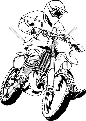 Image Result For Clip Art Dirt Bike Coloring Pages Sketsa Gambar Grafis
