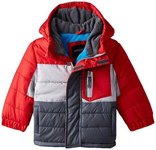 cb69ceec1be3 London Fog Baby Color Block Puffer Coat Red 18 Months   You can find ...