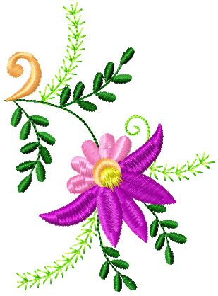 flowers small element 3 embroidery design | embroidery designs