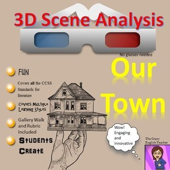 Our Town By Thornton Wilder D Scene Analysis Project Diorama