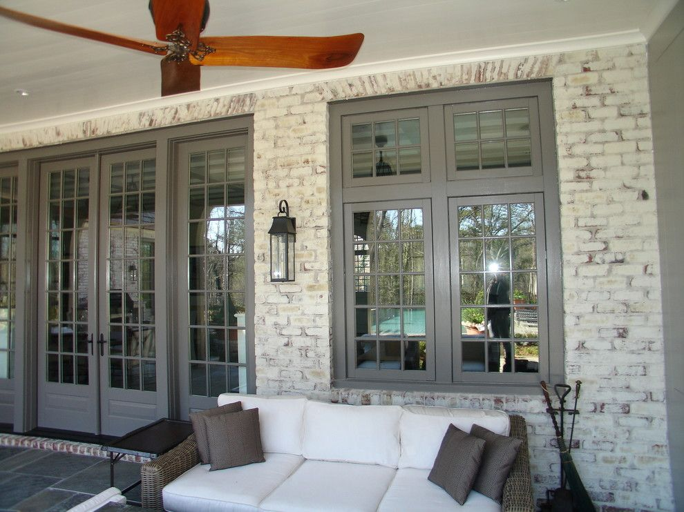 Whitewash Brick Traditional Porch Designs Atlanta Aria