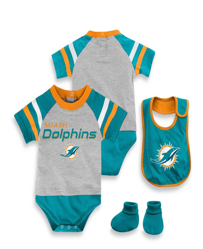 5ec067149 NFL Kids Baby 3 Piece Dolphins Baby Bodysuit Set | Stylish Baby ...
