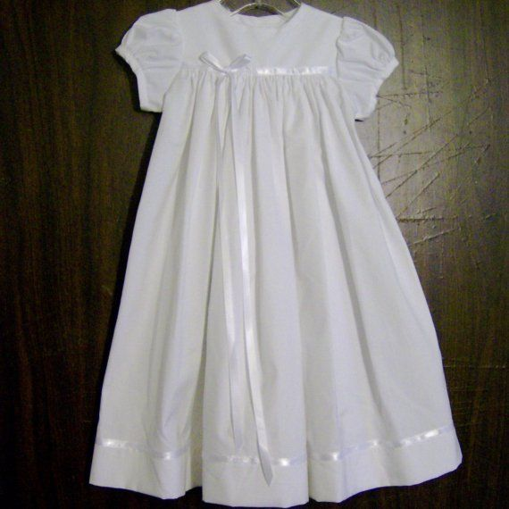 Modern Christening Gowns for Girls | Christening Gown CH117 by AnnaBouche on Etsy, $48.00