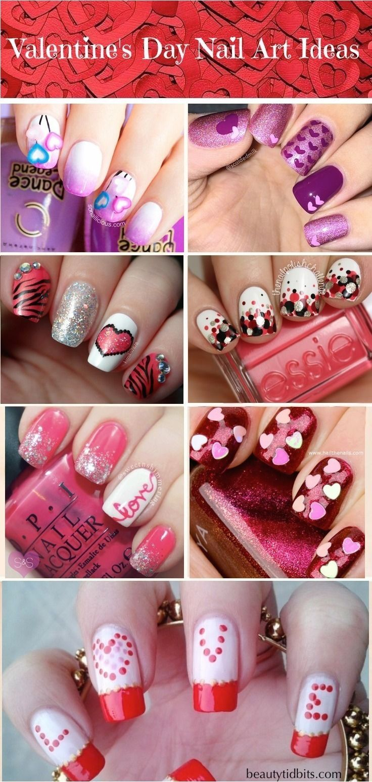 16 Valentine\'s Day Nail Art Designs to Fall in Love with! | Nail nail