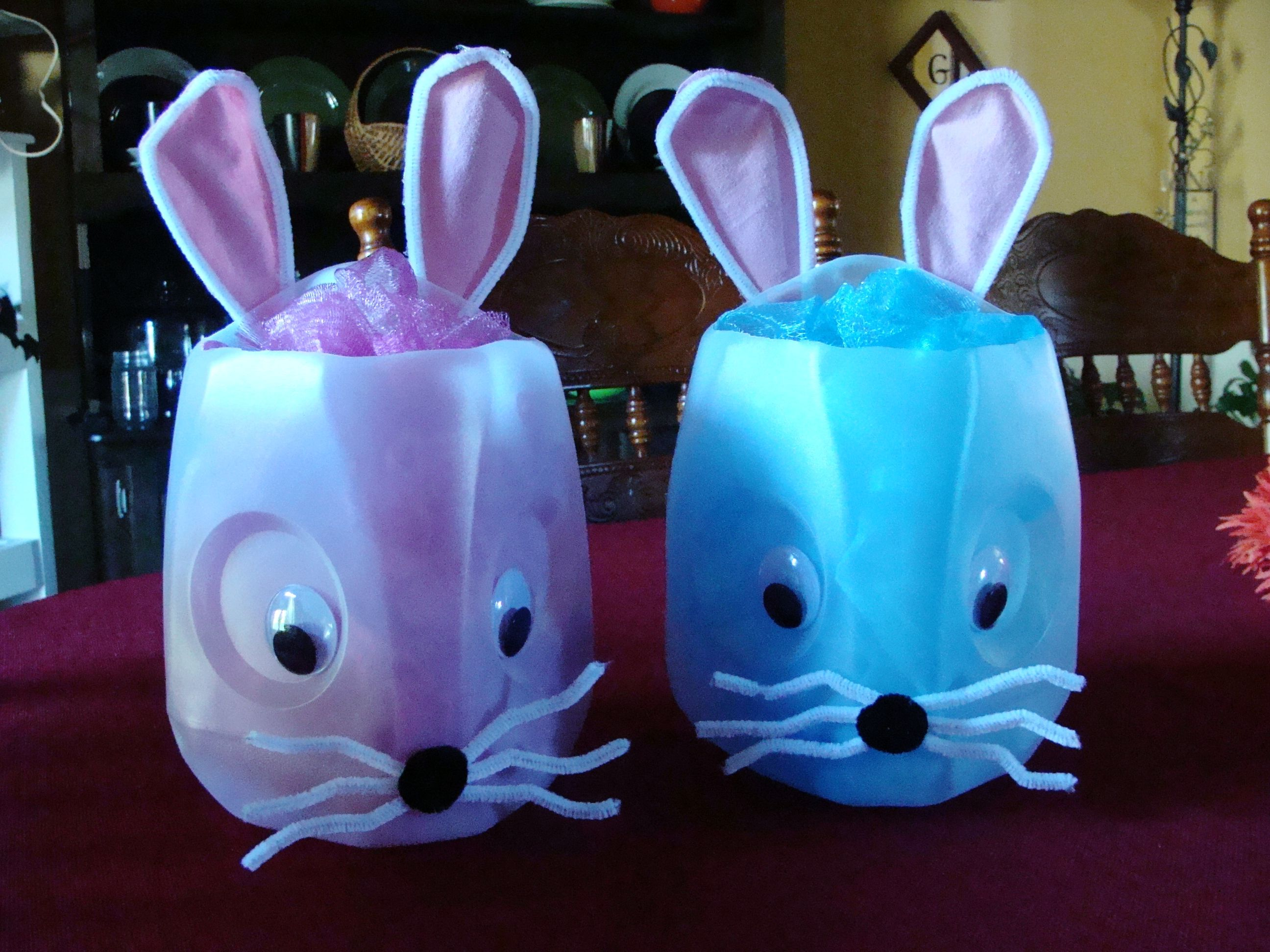 Easter Baskets Made From Milk Jugs