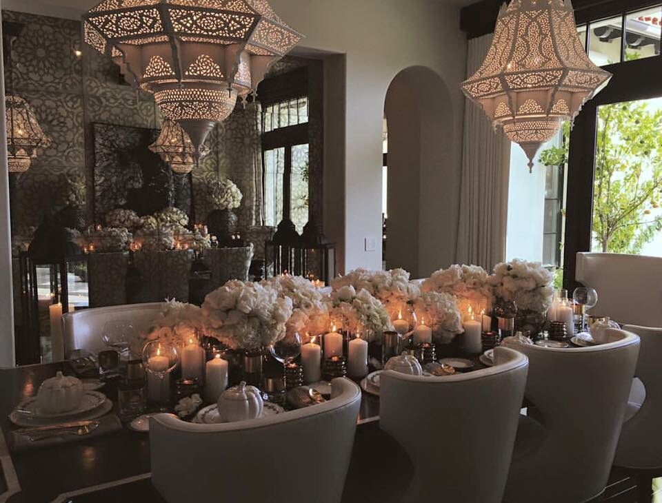 Khloe kardashian 39 s dining room moroccan inspired - Kourtney kardashian kitchen chairs ...