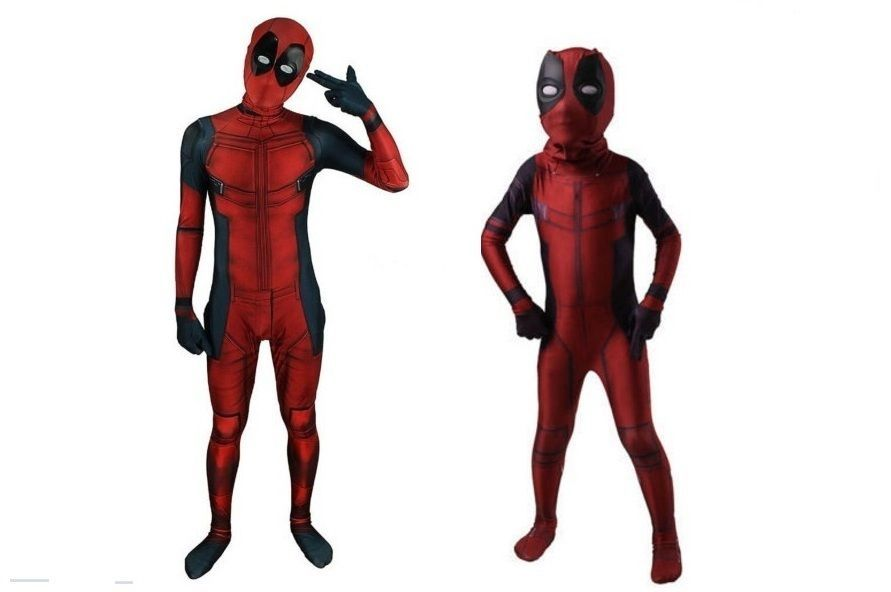 Men Clothing Shoes Accessories Deadpool Costume Adults Kids Cosplay Tights Clothing Mask Party Fancy Dress New Myself Co Ls