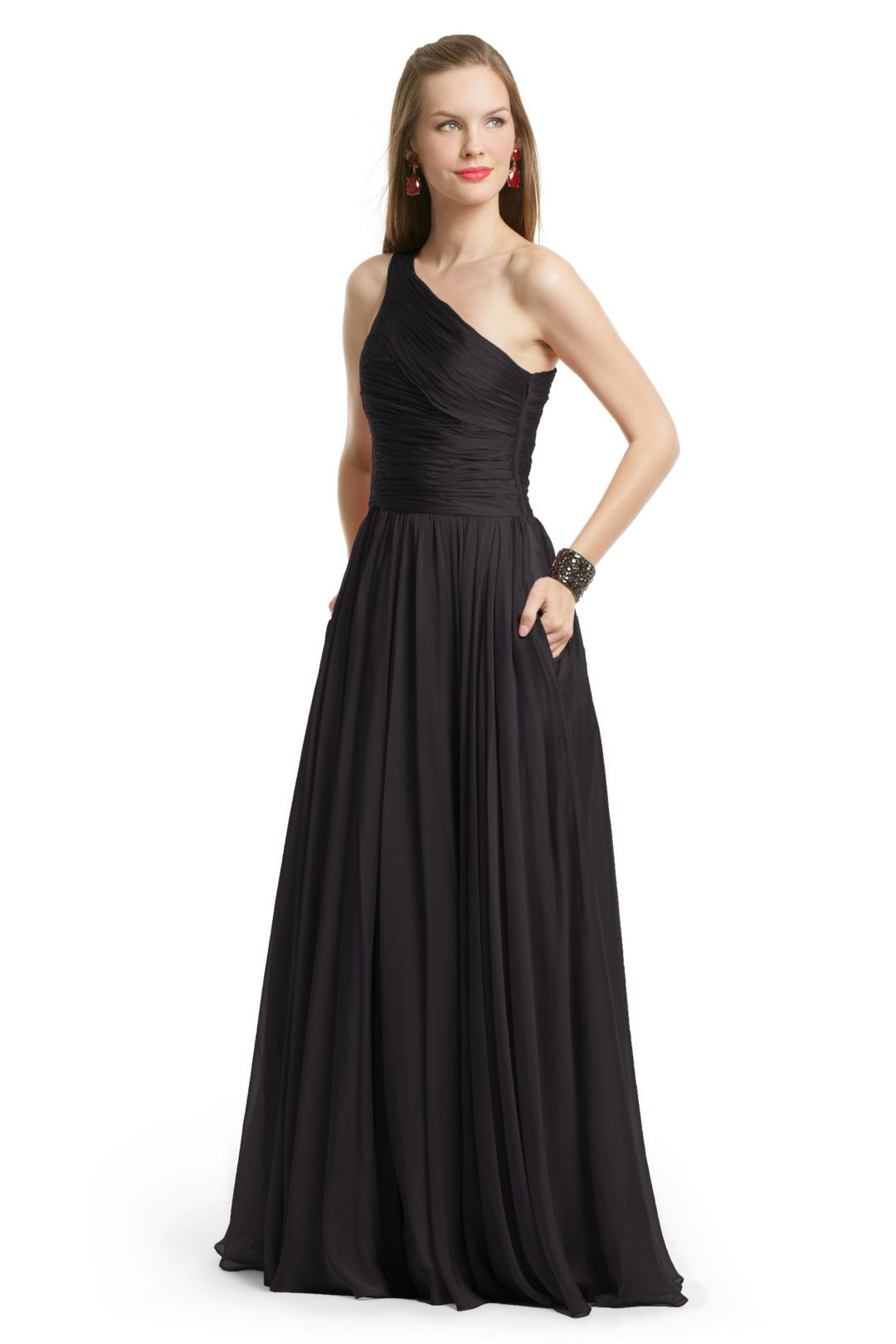 97011a2c7f21 Rent Noir Singapore Sensation Gown by Halston Heritage for $80 only at Rent  the Runway.