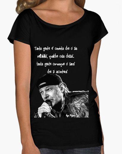 Donna Art T-shirt Maglietta Vasco Rossi Amo Te