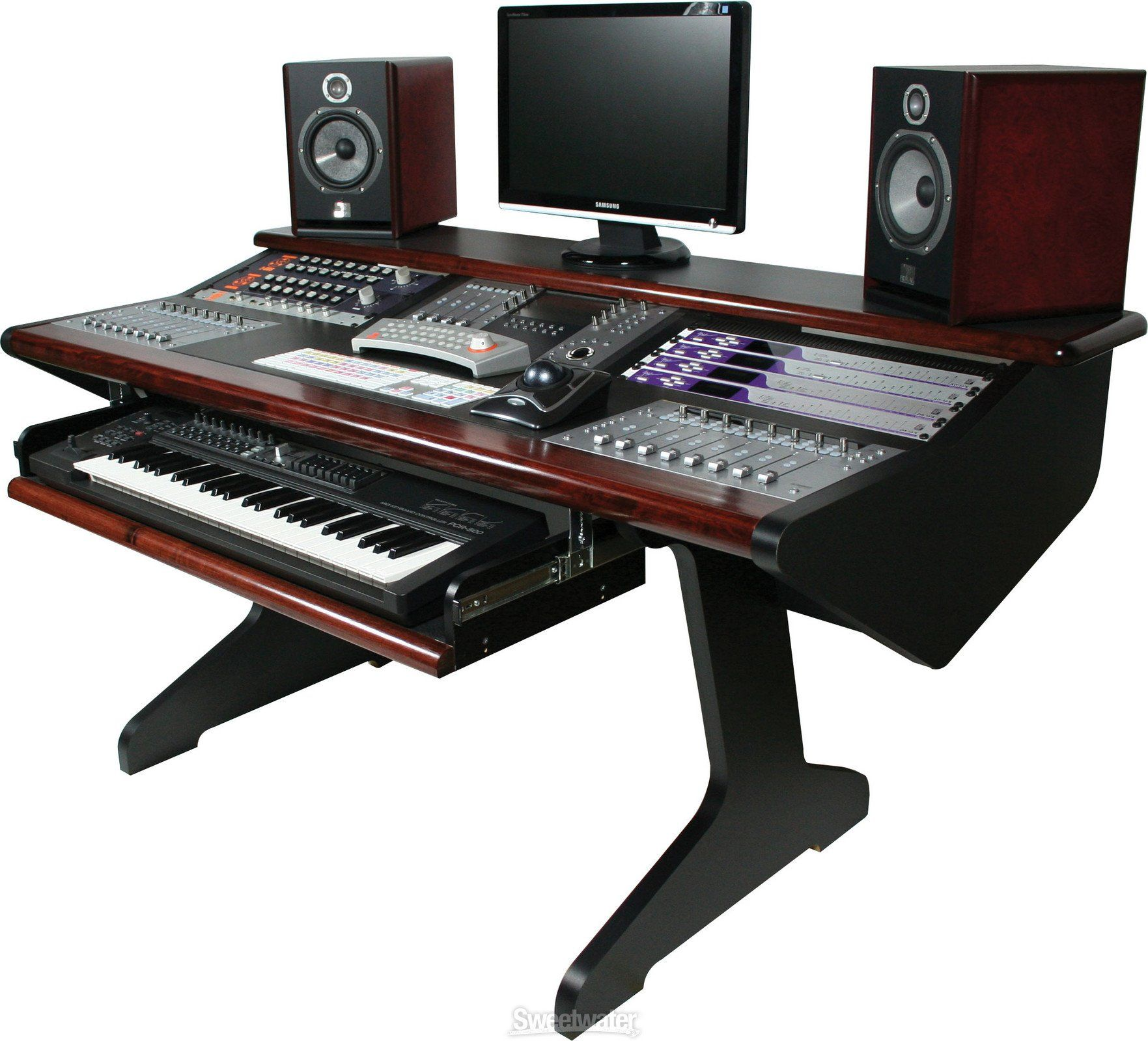 Steven Slate Audio Raven Mti Core Station With 2 Raven Mti2s Music Studio Room Recording Studio Design Studio Desk