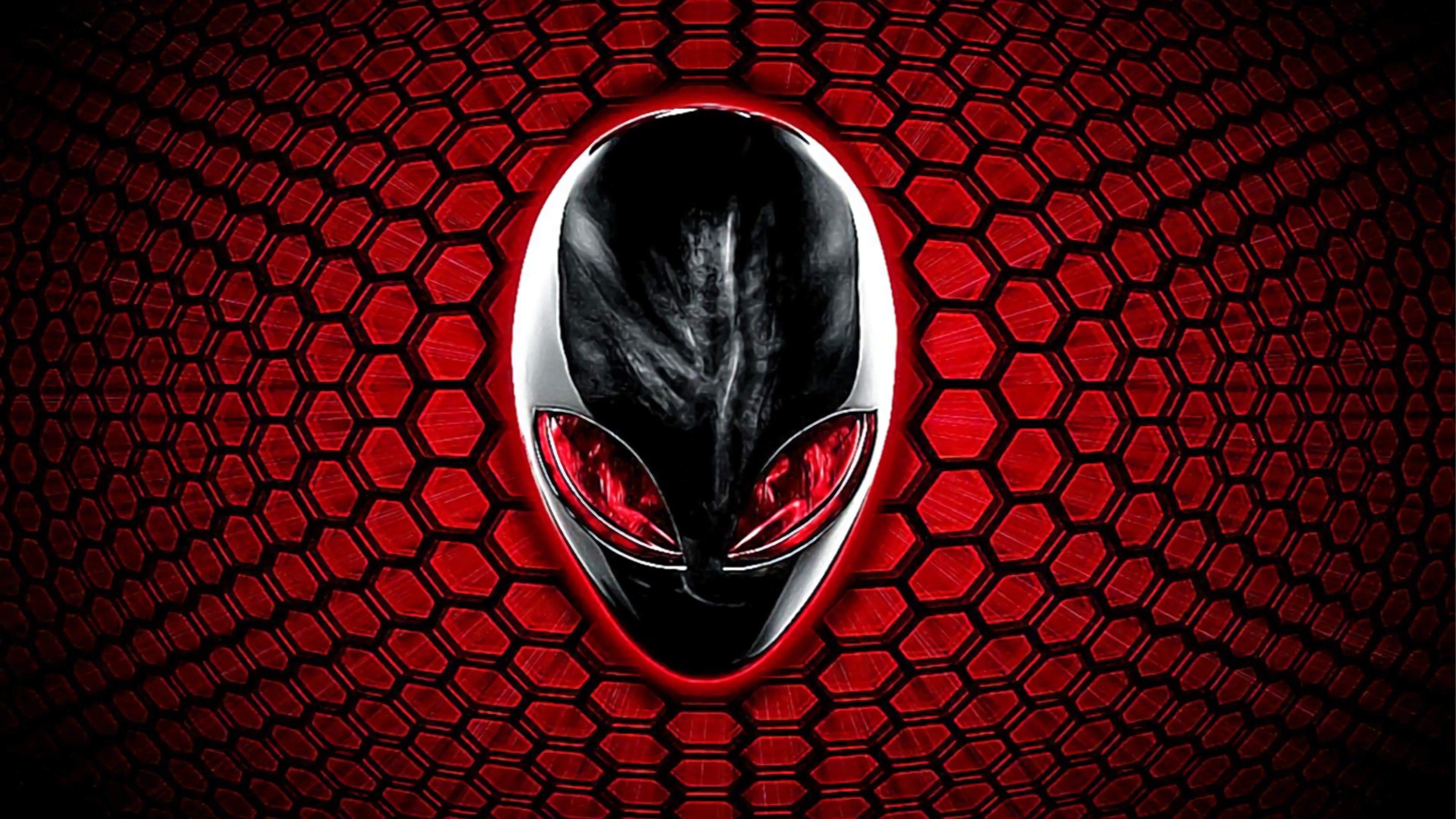 Res 3840x2160 Gaming Desktop Wallpaper 4k Alienware Logo Red Eyes 818 In 2020 Gaming Wallpapers Alienware Hd Wallpaper