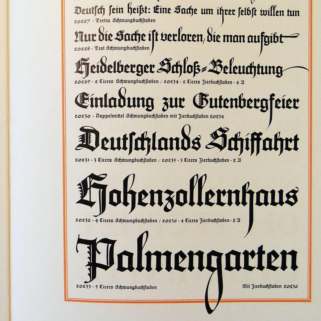 Maximilian Blackletter By Rudolf Koch For Gebr Klingspor 1917 Lettering Black Letter Book Design