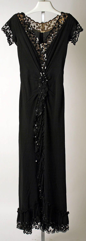 Evening dress Nettie Rosenstein  (American, 1890–1980)  Date: 1941–42 Culture: American. Front