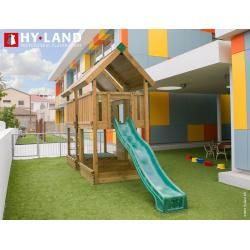 Photo of Reduced play towers with a slide
