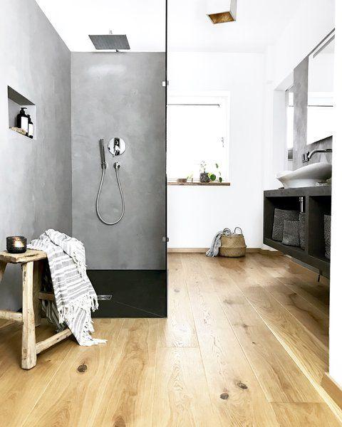 9 frische Ideen für Wände in Betonoptik Interiors - dekoration für badezimmer