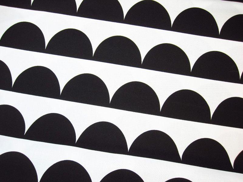 stoff grafische muster baumwoll stoff halbkreis kreis schwarz wei retro ein designerst ck. Black Bedroom Furniture Sets. Home Design Ideas
