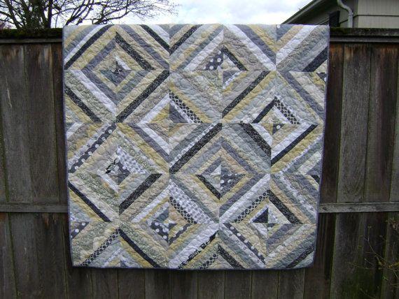 Is Black A Neutral Color neutral quilts   lap size string quilt in soft neutral colors