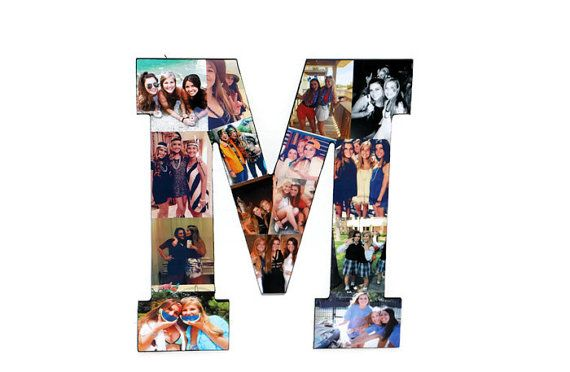 Best Friend Photo Frame Letter Collage by InitialRemembrance | Gift ...