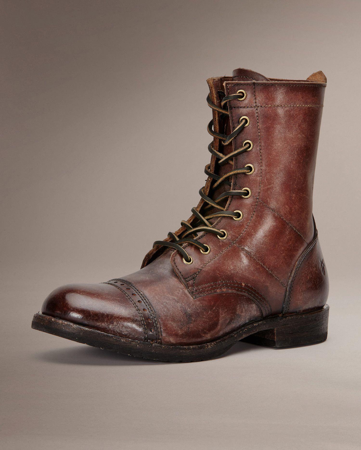 The Frye Company Sz 7 D Beige Suede Moc Toe Ankle High Boots Men