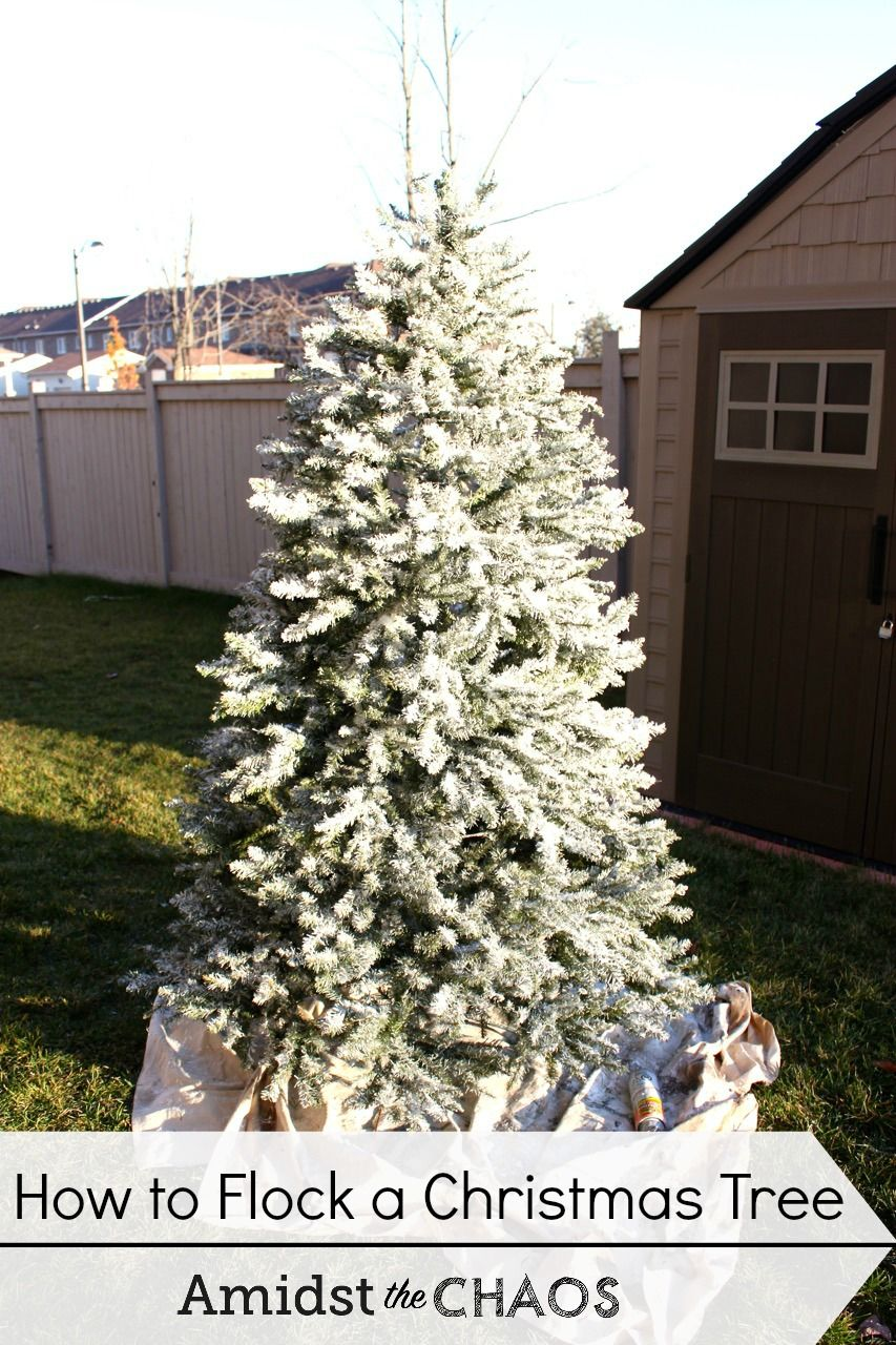 Spray Neige Pour Sapin decorating your christmas tree: day 1 how to flock your tree