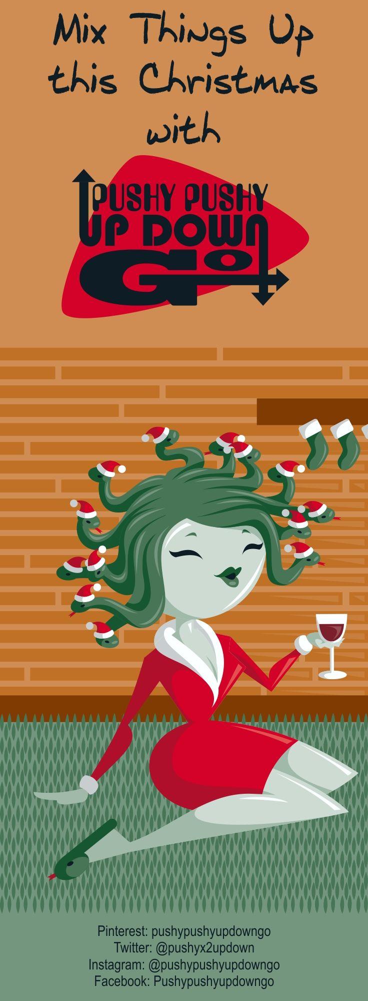 Funny Christmas Gorgon Greek Mythology Holiday Cards Set, Medusa ...