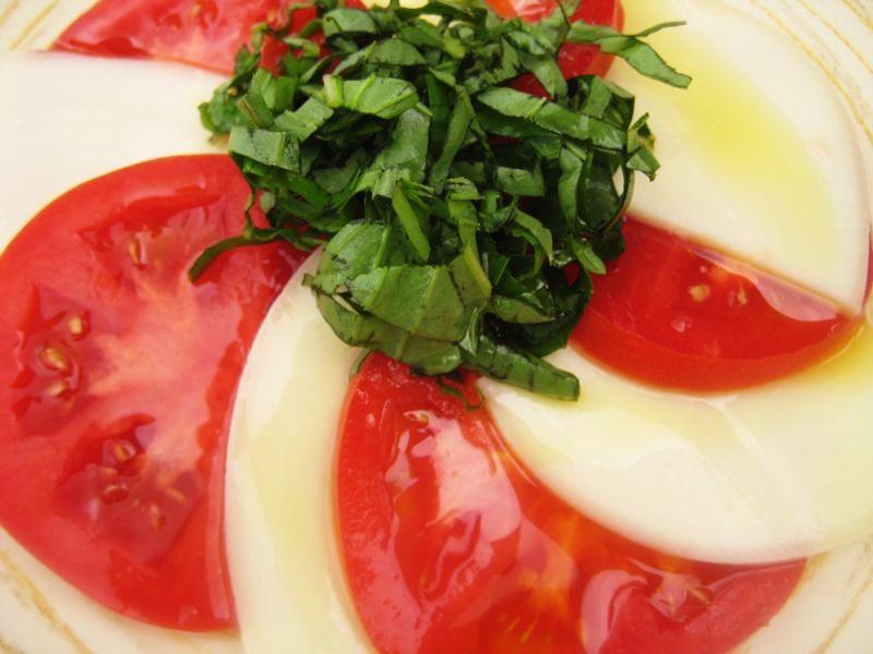 antipasto-provolone, tomato, basil, olive oil