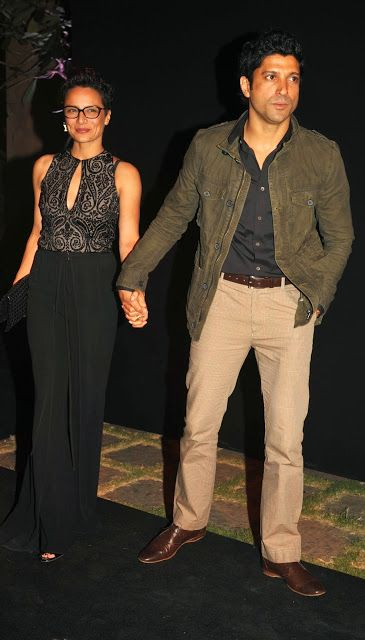 Farhan Akhtar With His Wife Adhuna As They Arrive To Attend A Party Hosted By Deepika Padukone Bollywood Stars Indian Bollywood Actress Bollywood Actors