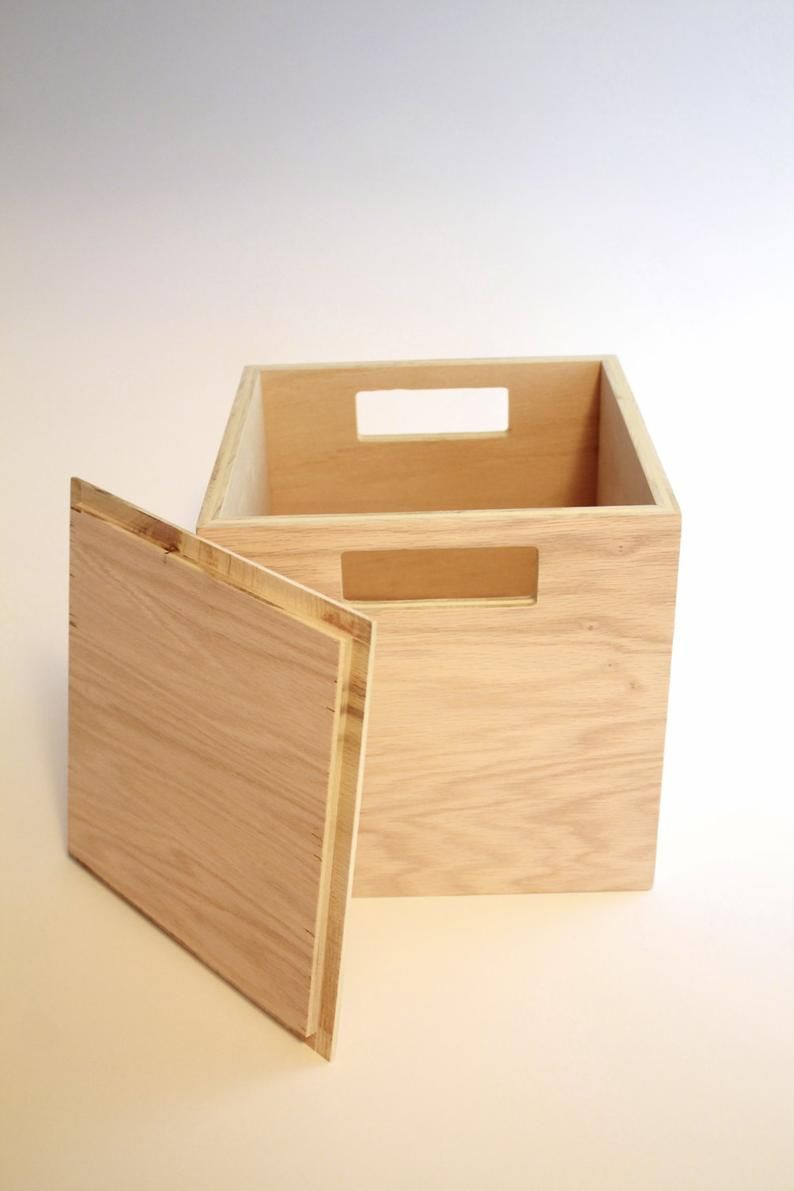 Wood Box With Lid And Handles Playroom Box Baby Toy Storage Etsy In 2020 Diy Wood Box Toy Storage Boxes Clothes Storage Boxes
