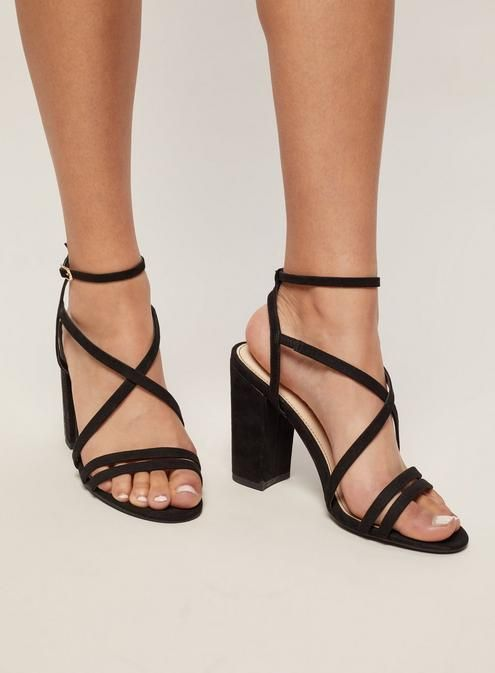 71b4b33b0 Restricted, Kirby Strappy Block Heel | francesca's | Shoes | Strappy block  heels, Block heels, Shoes