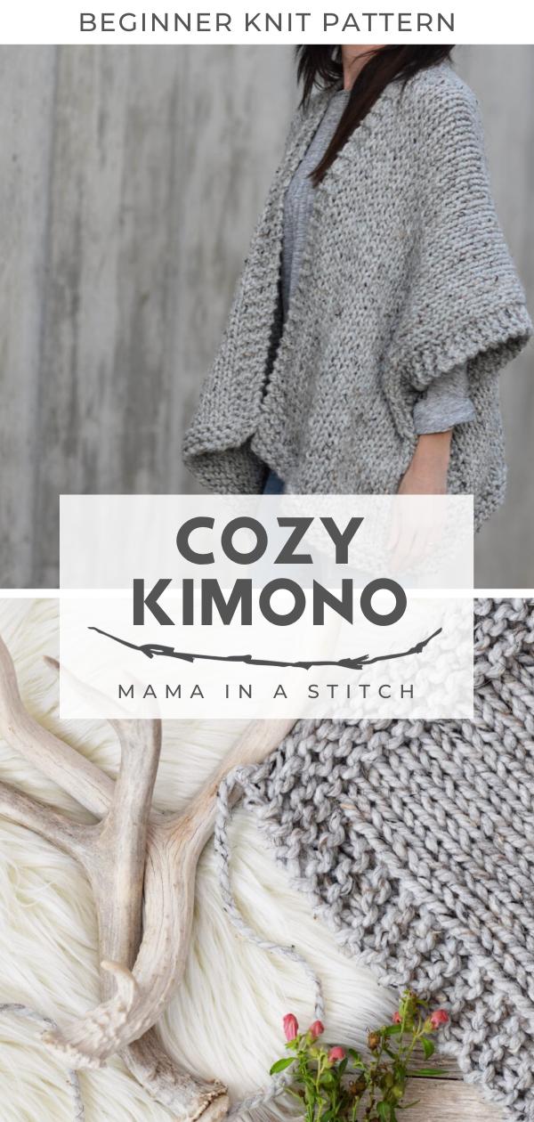 Cozy Kimono Cardigan Knitting Pattern
