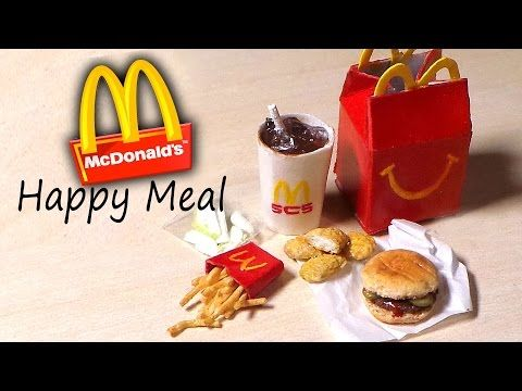 Miniature Happy Meal Mcdonalds Inspired Polymer Clay Tutorial You This Amazing Miniature Was