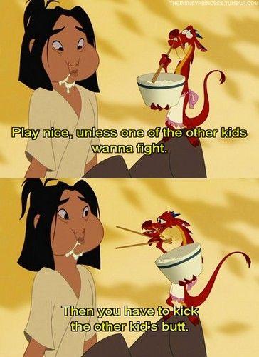 Disney Princess Photo: Mulan and Mushu