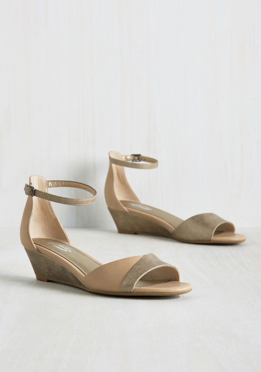 Coalition Wedge in Taupe, @ModCloth