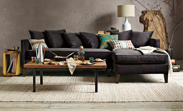 West Elm Living Room Looks, I Love This Dunham Sectional