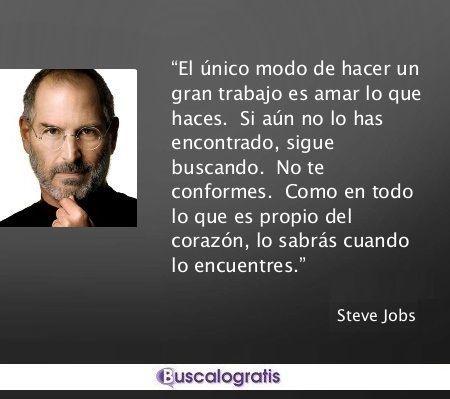 24cdd0d128a Las MEJORES FRASES de STEVE JOBS... @stevejobs #apple #frases #frasessabias  #frasesmotivadoras #exito #emprendedores #buscalogratis