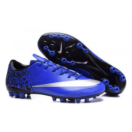 pretty nice b1675 0726e 2016 Nike Mercurial Victory V CR7 AG Mens Soccer Shoes - Blue Black White,  Free Shipping!