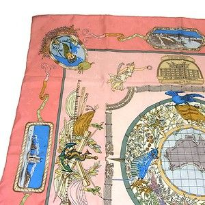 Detail of pink Jacquard silk...Australia...kangaroos woven into the silk