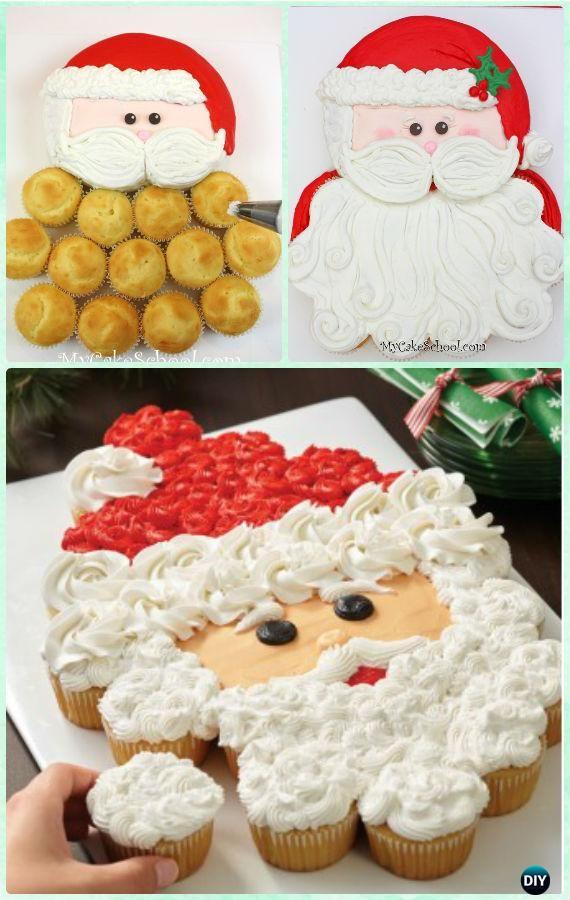 7 Tage Weihnachten Cupcake Cake Design auseinander ziehen #cakedesigns