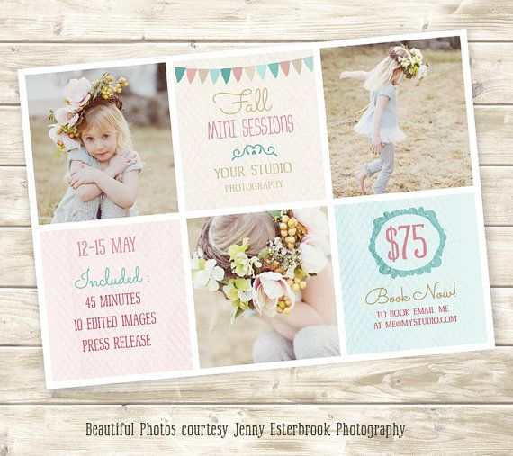 Buy it - Photography Marketing board PSD Template-Fall Mini Sessions ...
