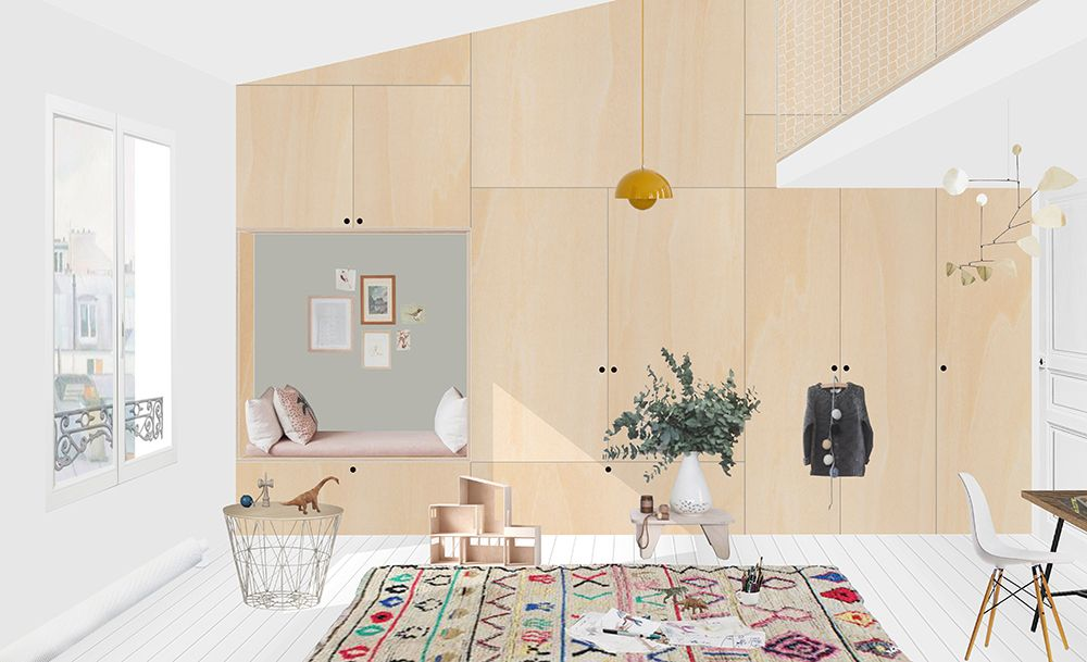 View Apartment Lepic 2 Studio Heju Interior Presentation